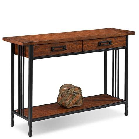 matte black  drawer burnished mission oak sofa table furniture accent entry ebay