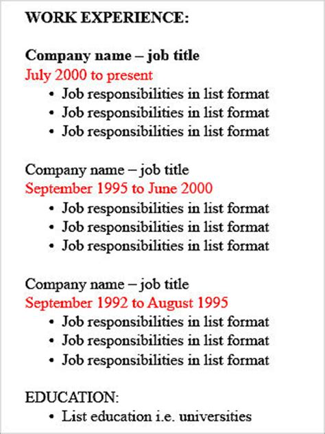 Employment History Order On Resume by Resume Type Decoder Boston