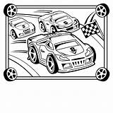 Race Coloring Pages Printable Crafts Cars Print Craft Cakes sketch template