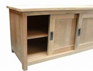meuble tv bas porte coulissante With porte de douche coulissante avec meuble salle de bain chene massif
