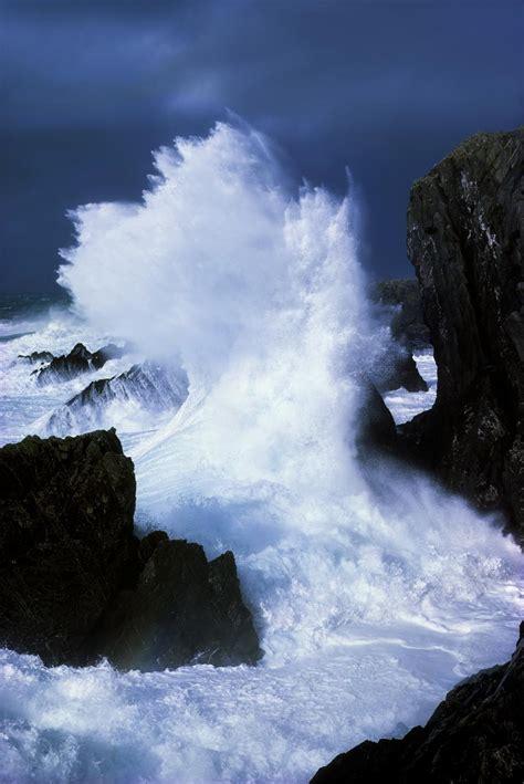 Ireland, Waves Crashing On Rocks  Pacificstock Canvas