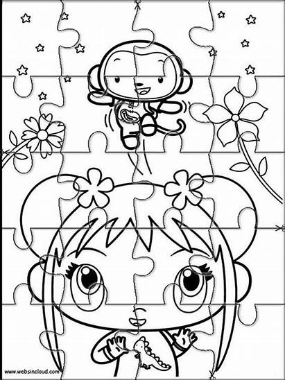 Rompecabezas Imprimir Colorear Recortables Dibujos Hao Kai