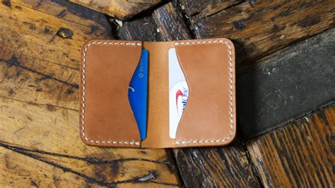 folded leather card holder  template build