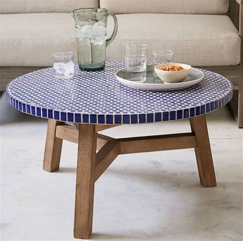 Mosaic Tile Outdoor Table by Cobalt Blue Mosaic Tile Coffee Table Blue Tiled