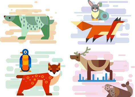 vector baby animal icons  vector