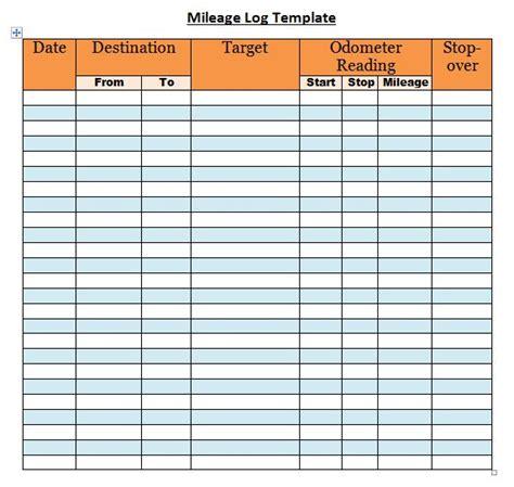 mileage template 30 printable mileage log templates free template lab