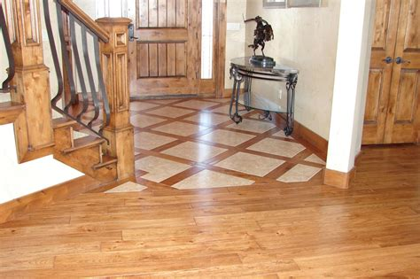 tile wood floors together do tile and hardwood floors go together 2 photos floor design ideas