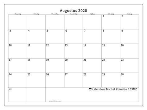 kalenders augustus  mz michel zbinden nl