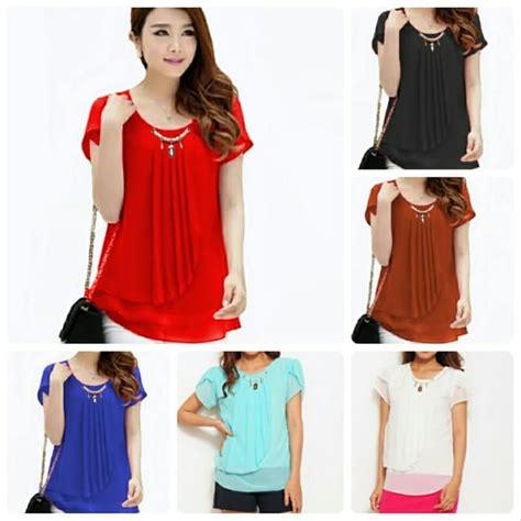 Blouse Atasan Wanita jual atasan baju pakaian blouse model korea wanita korean