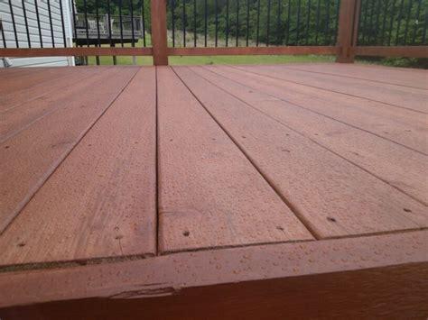 cedar deck   waterproofing performance