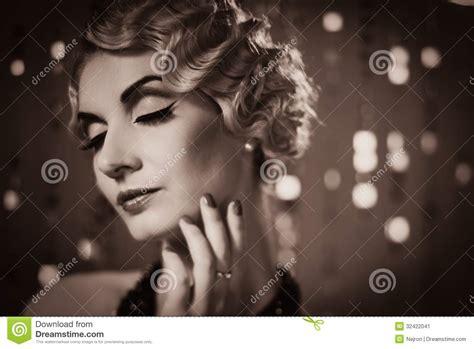Retro Woman Stock Image  Image 32422041