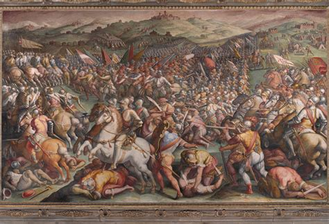siege de mural file giorgio vasari the battle of marciano in val di