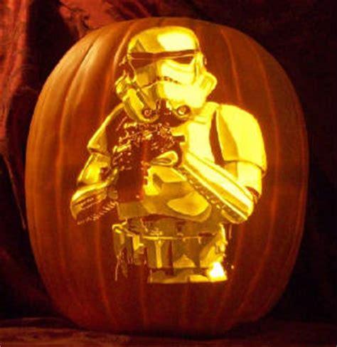 star wars pumpkin carvings  detail insanity bit