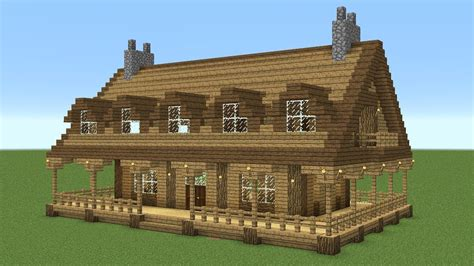 Wooden House In Minecraft - minecraft how to build a large wooden house