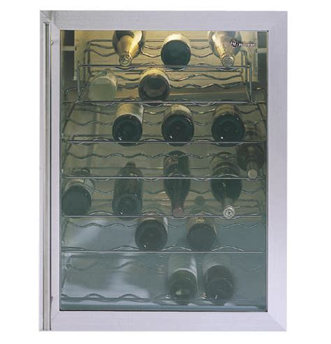 ge monogram white wine chiller   full width shelves  adjustable temperature control