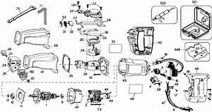 Dewalt Dw304 Reciprocating Saw  Type 2  Parts