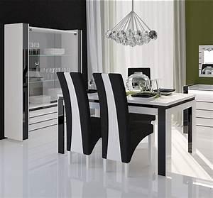 chaise de salle a manger noir et blanc With salle À manger contemporaineavec chaise noir de salle a manger