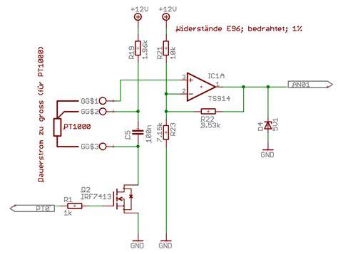 pt konkrete schaltung mikrocontrollernet