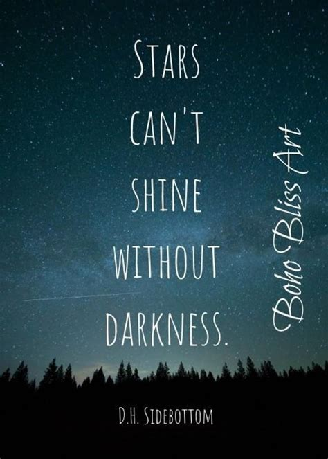 stars  shine  darkness inspirational quote
