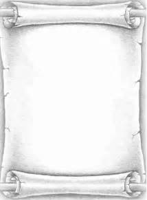 Blank Scroll Printable