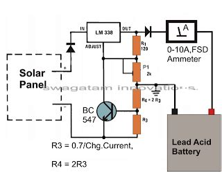 How Make Solar Battery Charger Circuit Diagram
