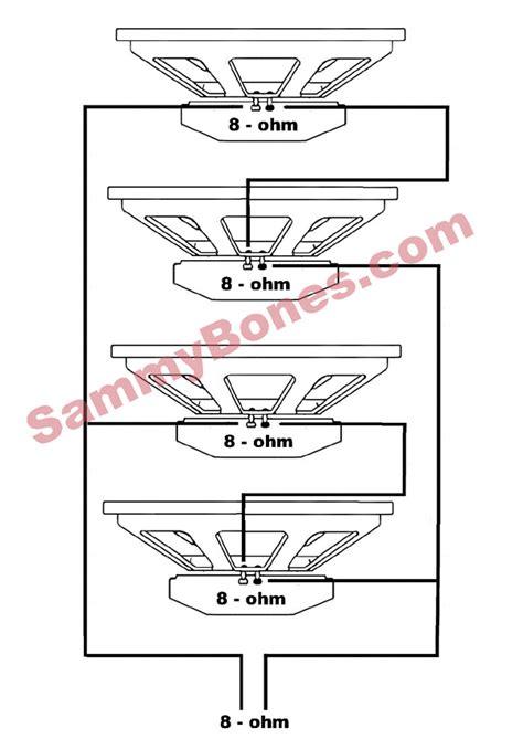 Speaker Wiring Diagram For Ohm by 4 Speaker 8 Ohm Wiring Diagram