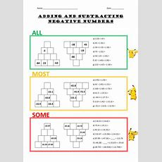 Adding And Subtracting Negative Numbers  Worksheet By Alexpanebianco  Teaching Resources Tes