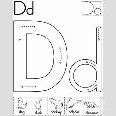 Alphabet Letter D Worksheet  Preschool Printable Activity