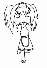 Anime Maid Chibi Coloring Base Deviantart Colouring Template Xiii Neko sketch template