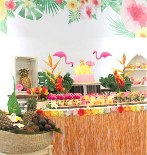 tropical decorations tropical hawaiian themed beach party ideas tropical decorations fancy dress tableware