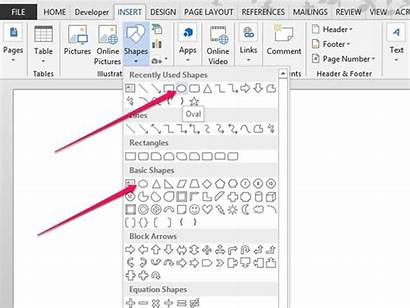 Word Draw Microsoft Circles