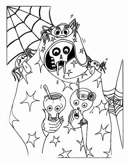 Coloring Pages Halloween Spooky Scary Horror Colors
