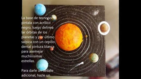 c 243 mo hacer una maqueta del sistema planetario solar uff me salvaste novelas pinterest