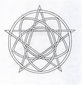 Pentagram Coloring Pentacle Celtic Template Deviantart sketch template