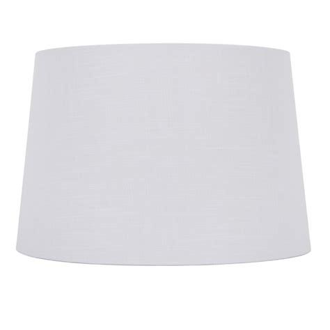 white drum l shade shop allen roth 10 in x 15 in white linen fabric drum
