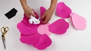 Diy Paper Flower Tutorial Using Template  9