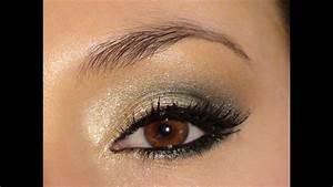 Maquillage Mariage Yeux Vert : or et vert maquillage du temps des f tes ~ Nature-et-papiers.com Idées de Décoration