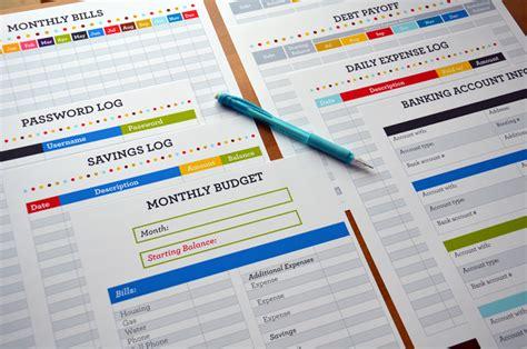 monthly bill organizer notebook our finance binder sweet paper trail