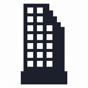 Appartment building silhouette - Transparent PNG & SVG vector
