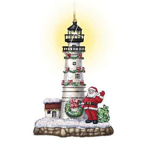 shining lighthouse christmas ornaments  danbury mint