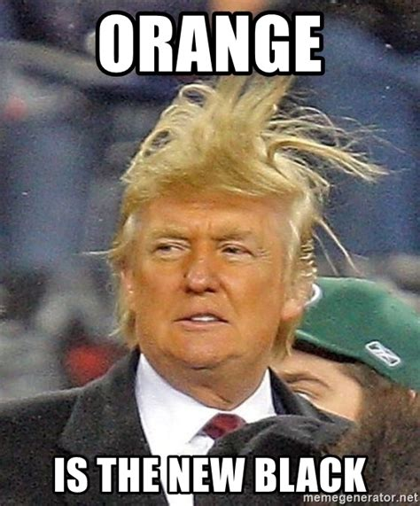 Orange Is The New Black Meme - orange is the new black donald trump wild hair meme generator