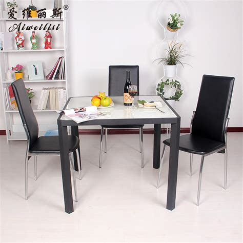 aiweilisi square table glass dining tables and chairs