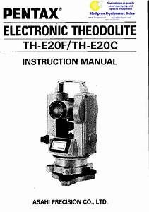 Pentax Electronic Theodolite Th Th