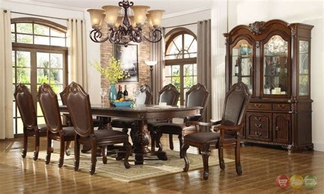 chateau traditional  piece formal dining room set pedestal table chairs ebay