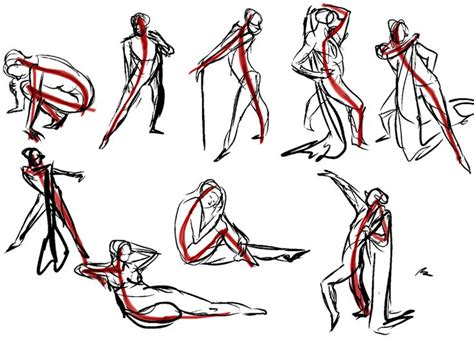 art resources gesture drawing images  pinterest