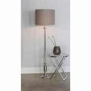 Lampenschirm Für Stehlampe : lampenfu silber f r stehlampe stehleuchte verchromt mit lampenschirm h he 140 190 cm ~ Orissabook.com Haus und Dekorationen