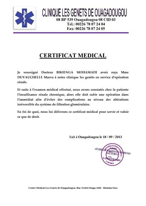 Faux Modele De Certificat Medical Telecharger