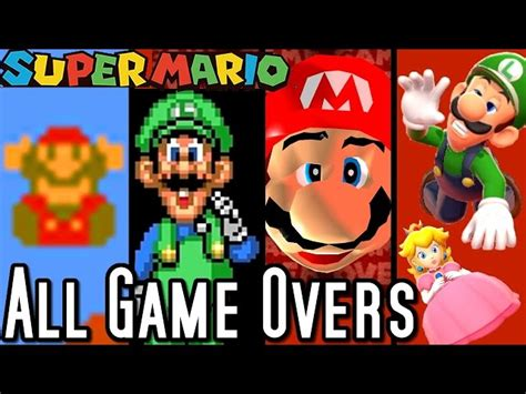 Super Mario All Game Over Screens 1985 2015 Wii