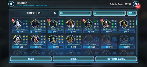 team set  star wars galaxy  heroes forums