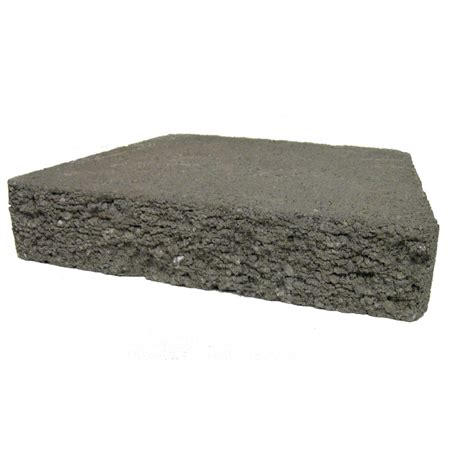 shop basic charcoal retaining wall cap common 2 in x 12